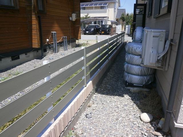 樹脂フェンスアーバンフェンス施工例2