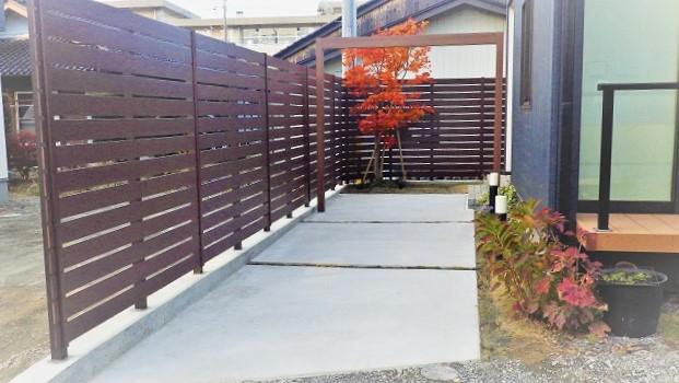 施工例①実用的なスペースとプライベート空間を区切る