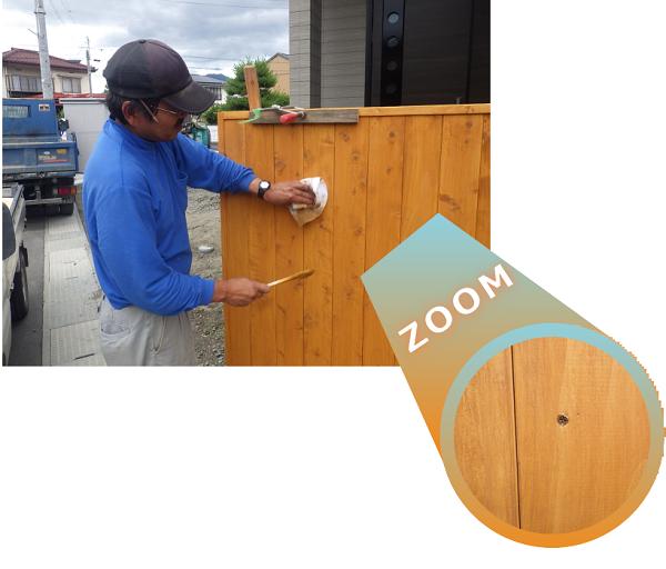 貼った板はビス止めにして、修繕可能に!