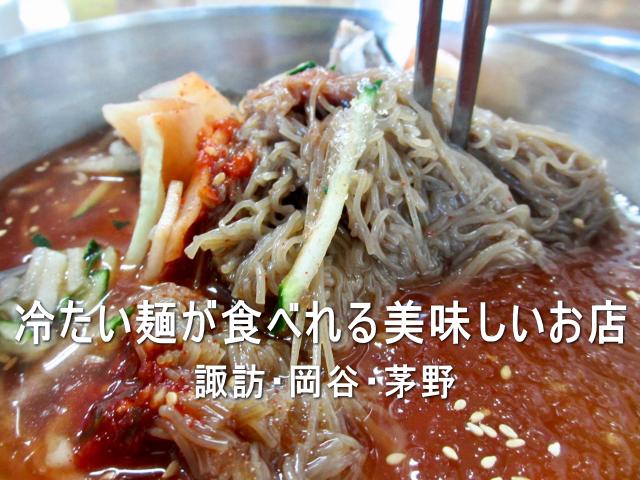 夏に食べたい!冷たい麺が食べれる美味しいお店 諏訪・茅野周辺