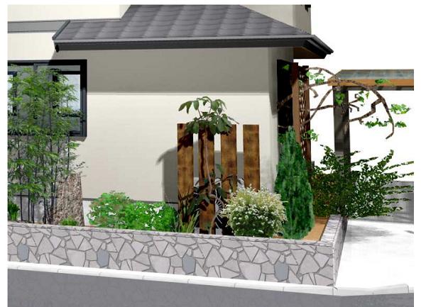 狭い庭を作るコツ!住宅機器(室外機等)の目隠し カバー