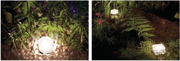 花壇の照明