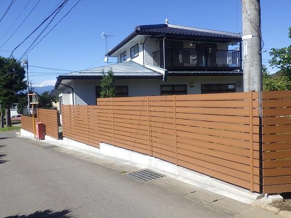 今風のおしゃれなフェンスでプチリフォーム(他:駐車スペース・剪定) 塩尻市 K様邸