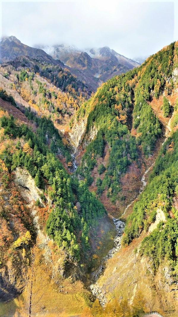 黒部ダム山々紅葉きれい展望台からの景色