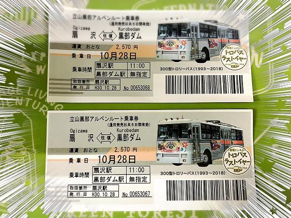 トロリーバス切符