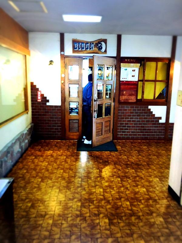 ステーキハウス「BISON(バイソン)」の入り口