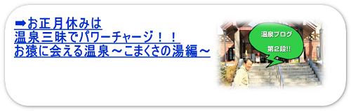 お正月休みは温泉三昧でパワーチャージ!!お猿に会える温泉~こまくさの湯編~