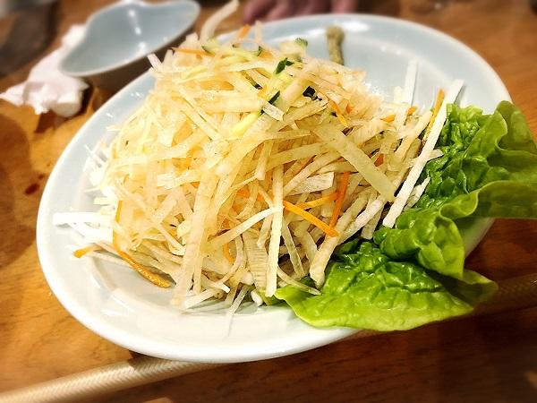 韓国料理『美蘭』の大根サラダ