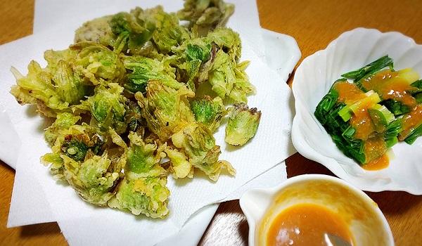 まずは定番!ふきのとうの天ぷら
