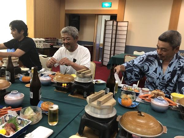 ホテル大佐渡の夕食