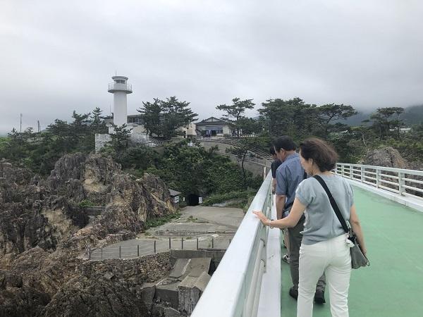 佐渡旅行No.6(1日目)~尖閣湾揚島遊園&佐渡らしい水族館~君の名は。まちこ橋