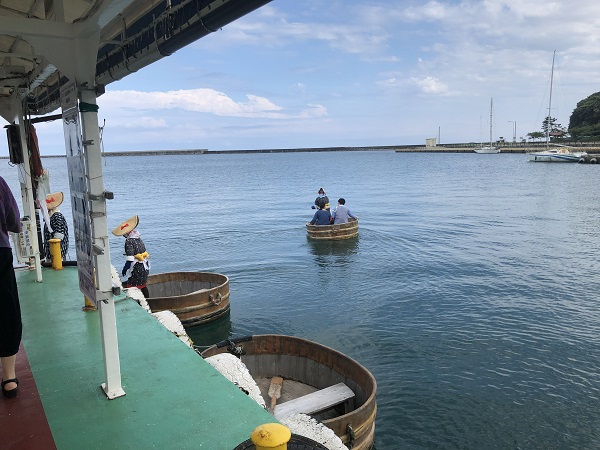 たらい舟乗り場