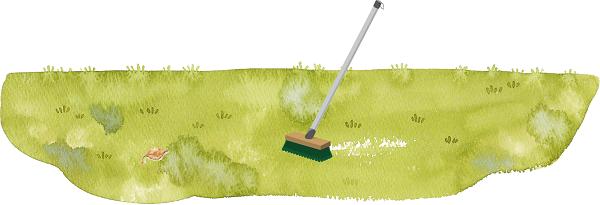 人工芝のメンテンナンス『芝草が倒れてしまう』