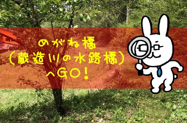 (蔵造川の水路橋)