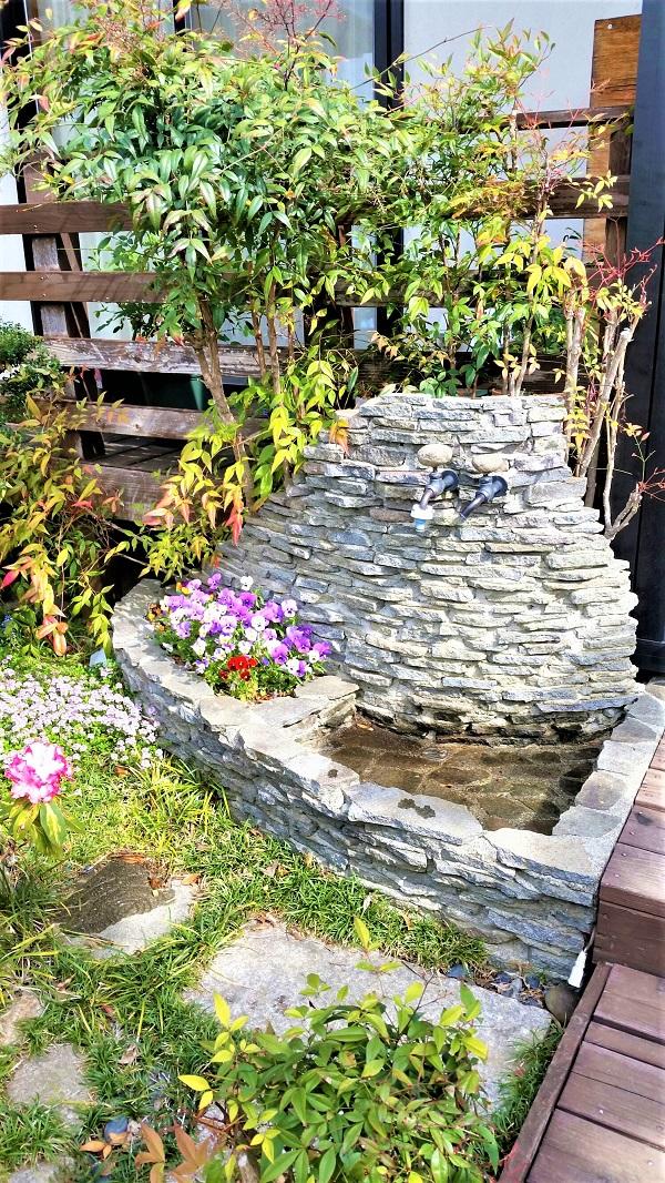 かわいい庭水栓の作り方 T邸 塩尻市