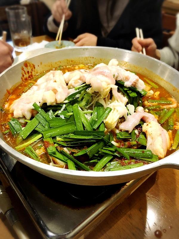 韓国料理『美蘭』のチゲもつ鍋