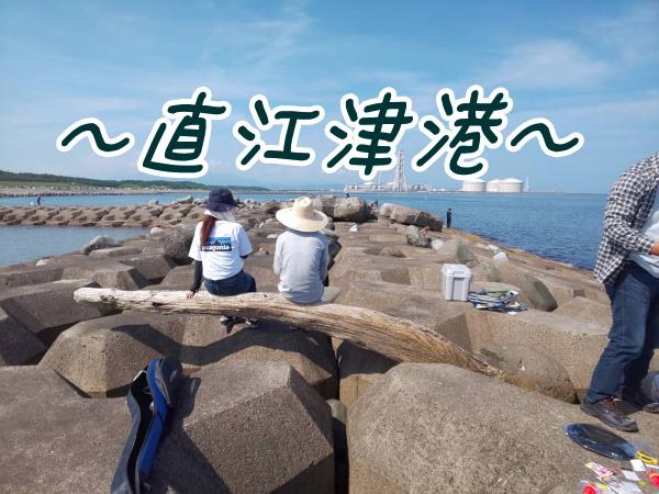 直江津港魚勢でランチ直江津第3東防波堤で釣り