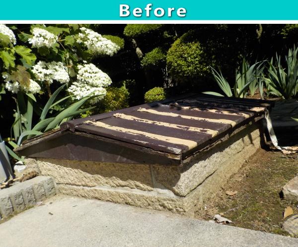 【屋外・庭】地下収納のふたを丈夫で劣化しない樹脂製に新調 塩尻市 施工例