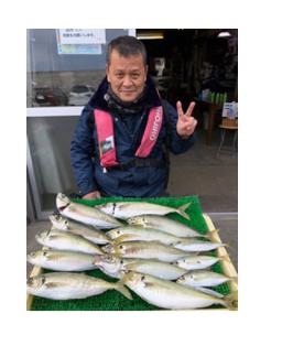 新年早々、釣りでアジ大漁!!神奈川県平塚市庄治郎丸にて