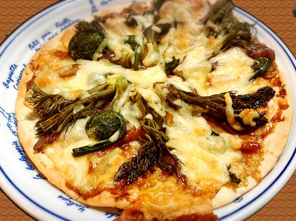 山菜ピザレシピ