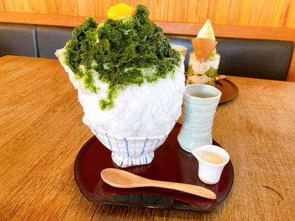 『胡蝶庵』夏限定☆白玉あずき入り濃厚抹茶かき氷を堪能