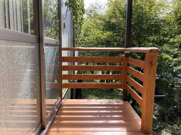 玄関デッキ・ステップ(階段)新しく作り直しました♪